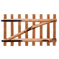 vidaXL Poort enkel 100x60 cm geïmpregneerd hazelaarhout