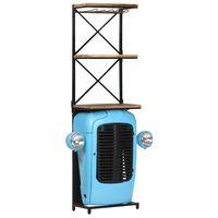 vidaXL Wijnkast tractor 49x31x170 cm massief mangohout blauw
