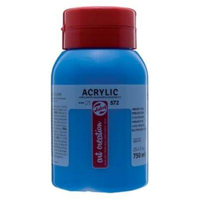 Talens Art Creation acrylverf flacon van 750 ml, primaircyaan