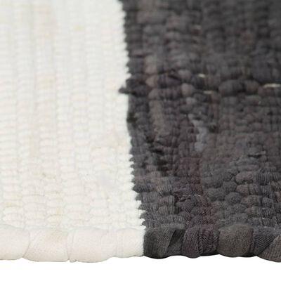vidaXL Placemats 4 st chindi gestreept 30x45 cm antraciet en wit