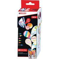 Edding Colour Happy box, assortiment met 20 stuks in geassorteerde ...