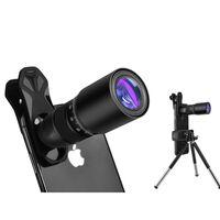 Fotolens met 18x zoom met statief voor mobiel - zwart