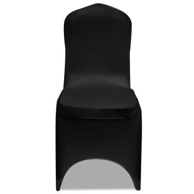 Hoes voor stoelen 50 stuks (zwart)