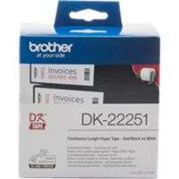 Brother DK-22251 Zwart en Rood op wit (62 mm)