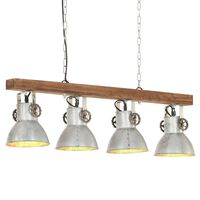 vidaXL Plafondlamp industrieel E27 mangohout zilverkleurig