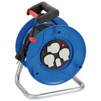 Brennenstuhl Kabelhaspel met USB-oplader Garant 25 m blauw