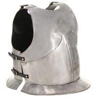 vidaXL Kuras middeleeuws replica LARP staal zilverkleurig