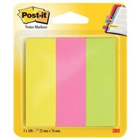 Post-it NOTES MARKERS NEON 3X100V