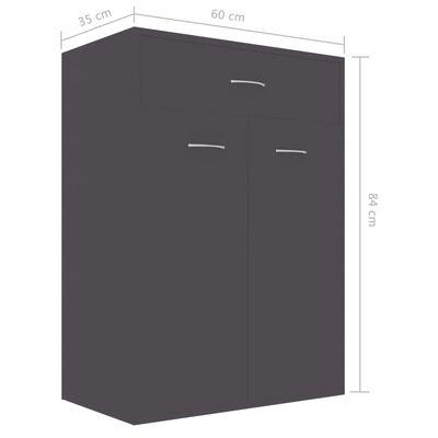 vidaXL Schoenenkast 60x35x84 cm spaanplaat grijs