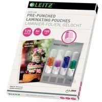 Leitz Lamineerhoezen met ringbandstrook 100 st 125 micron A4
