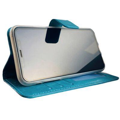 Apple Iphone 12 Mini  Aqua Blauw Wallet / Book Case / Boekhoesje/